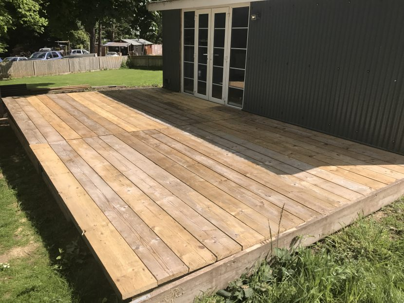 Reclaimed scaffold board decking worth scaffolding for Recycled decking boards